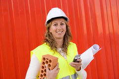 Woman In Construction Business Royalty Free Stock Images