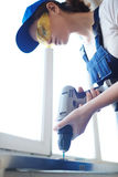 Woman in Construction Crew Royalty Free Stock Photos