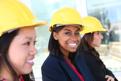 Woman Construction Team Royalty Free Stock Photography