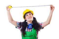 Woman construction worked Royalty Free Stock Photo