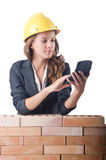 Woman construction Royalty Free Stock Photo