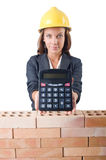 Woman construction Stock Image