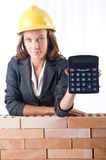 Woman construction worker Royalty Free Stock Photography