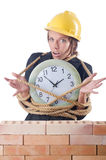 Woman construction worker Royalty Free Stock Photos