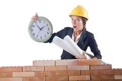 Woman construction Stock Photos