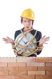 Woman construction worker Stock Image