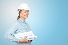 Woman construction worker Royalty Free Stock Images