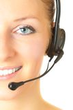 Woman consultant with headset Stock Image