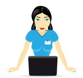 Woman consultant with a laptop Stock Photos