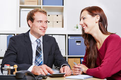 Woman at consultation for insurance Royalty Free Stock Photography