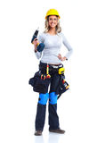 Woman contractor. Royalty Free Stock Photography