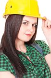 Woman contractor Stock Photography