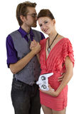 Woman Controlling Boyfriend Royalty Free Stock Photo