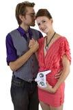 Woman Controlling Boyfriend Royalty Free Stock Photo