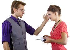 Woman Controlling Boyfriend Stock Photos