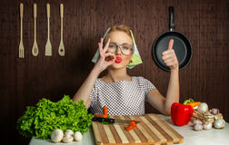 Woman cook Stock Photo