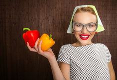 Woman cook Stock Image