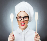 Woman cook, chef Royalty Free Stock Images