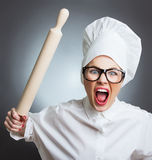 Woman cook, chef Stock Images