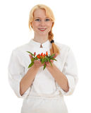 Woman cook with crossed arms Royalty Free Stock Photo