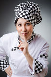 Woman cook isolated Stock Photos