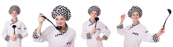 The woman cook Royalty Free Stock Photography