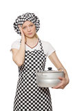 Woman cook isolated Royalty Free Stock Photo