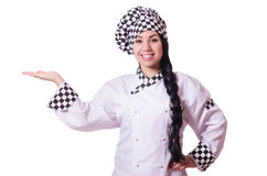 Woman cook isolated Stock Photography