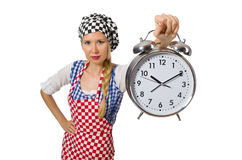 The woman cook isolated on the white background Royalty Free Stock Photo