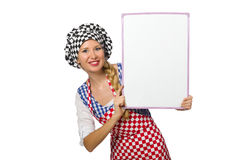Woman cook isolated on the white background Stock Images