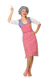 The woman cook isolated on the white background Royalty Free Stock Image