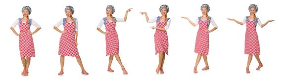 The woman cook isolated on the white background. Woman cook isolated on the white background Stock Photography