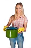 Woman cooking Royalty Free Stock Images