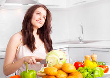 Woman cooking Royalty Free Stock Photography