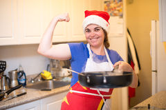 Woman Cooking in Christmas Royalty Free Stock Photo