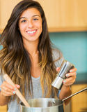 Woman Cooking Dinner Stock Image