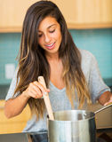 Woman Cooking Dinner Royalty Free Stock Photography