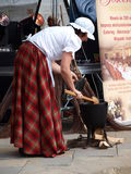 Woman cooking food, Lublin, Poland Royalty Free Stock Image