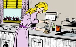 Woman cooking at home Stock Photography