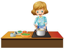 Woman cooking Royalty Free Stock Photo