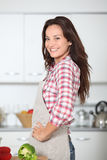 Woman cooking vegetables Stock Photography