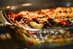 Making lasagna Royalty Free Stock Images