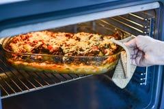 Making lasagna Stock Images