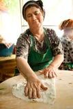Woman cooks a traditional Turkish pancake Stock Photo