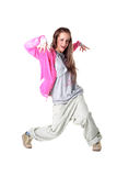 Woman cool modern dancer Royalty Free Stock Images