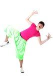 Woman cool modern dancer Royalty Free Stock Photo