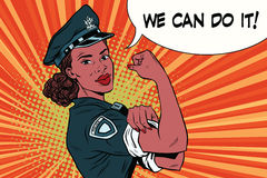 Woman COP we can do it Stock Image