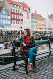 Woman in Copenhagen Royalty Free Stock Photos