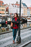 Woman in Copenhagen Royalty Free Stock Photography