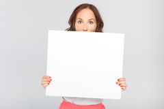 Woman with a copy space Stock Photo